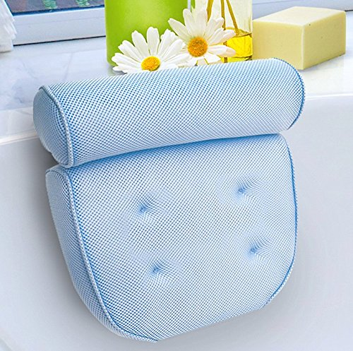 Kleeger Hot Tub Bath Pillow: Home Spa Jacuzzi Neck & Back Support, Soft Non-Slip Cushion With 4...