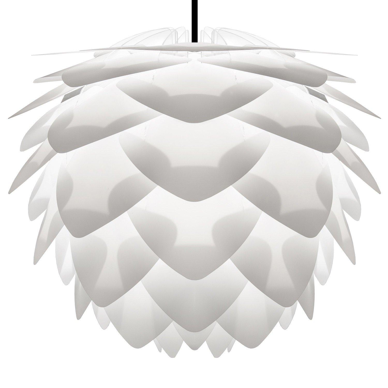 Umage/VITA Silvia Hängeleuchte für A++ bis E inkl. Kabel und Fassung weiss, Kabel schwarz D 45 cm Lampe