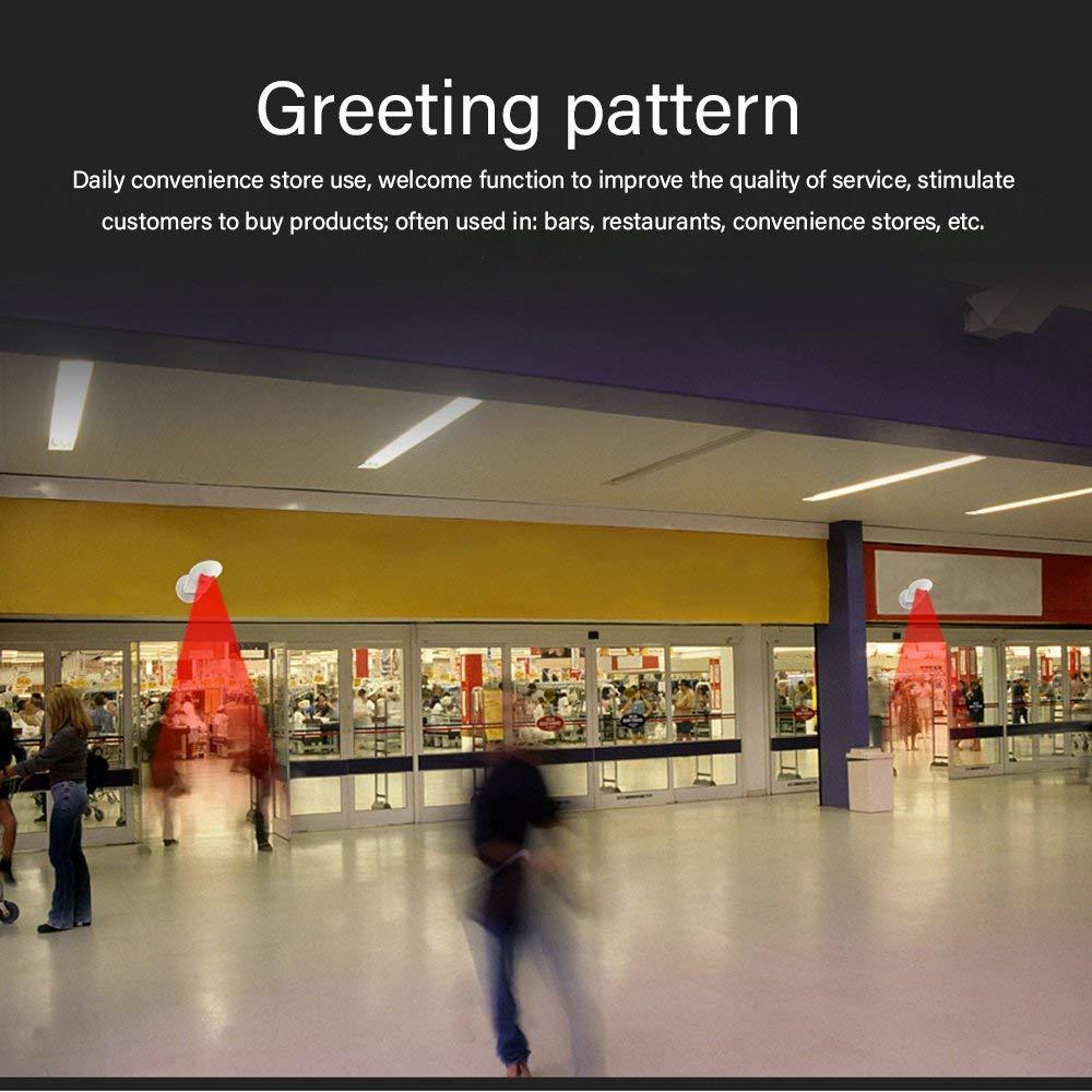 RoadRoma Timbre inal/ámbrico Tienda Tienda Bienvenido Sensor de Movimiento Alarma Puerta Timbre Timbre Blanco