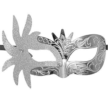 Amazon.com: Máscara veneciana de media Mardi Gras para ...