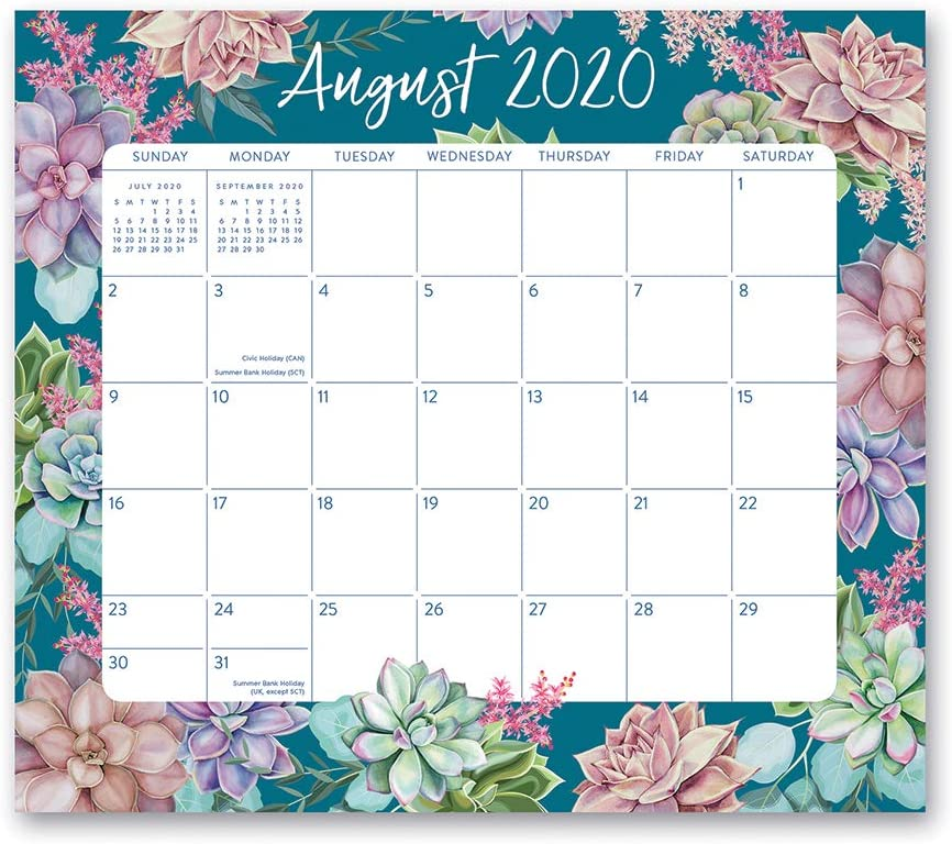 2020-2021 Succulent Garden Magnetic Monthly Pad from Orange Circle Studio