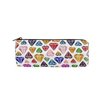 Ahomy Estuches de lápices coloridos patrón de diamante ...