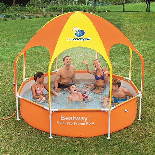 Bestway 8' x 20'' Splash in Shade Kids Spray Play Swimming Pool & Canopy (2 Pack) by Bestway (Image #3)