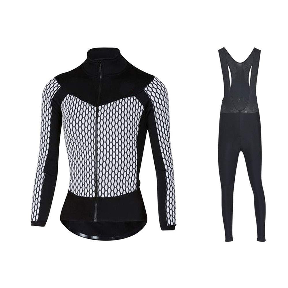 NGB Woman Cycling Jersey Set Long Sleeve Top Padded Bib Strumpfhosen Pants Combo Set Cycling Suit Clothing Winter Thermal Plus Samt