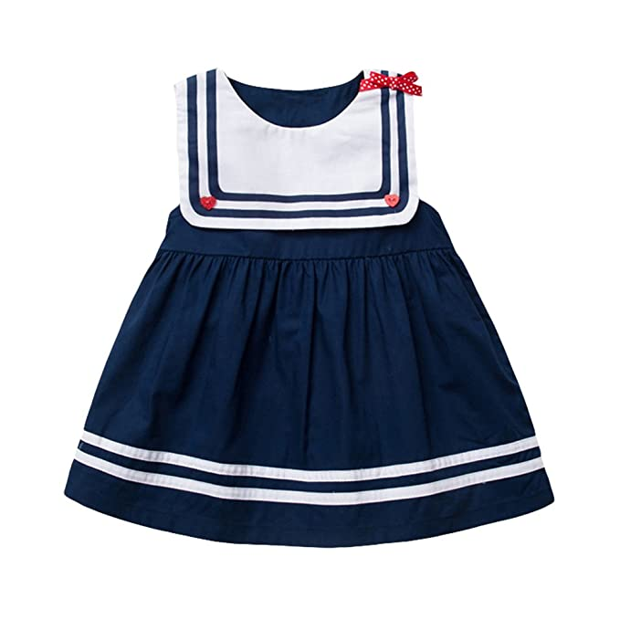 386a68fba Amazon.com: Infant Baby Girl Dress Kid Toddler Sailor Dress Cute ...