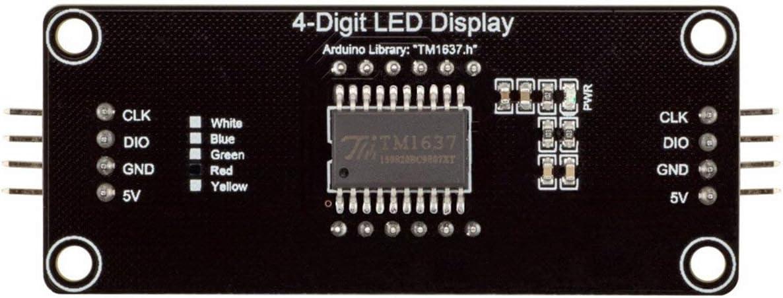 "Green 0.56/"" TM1637 4-Bits Digital LED Anzeige Clock Tube Display For Arduino DE"