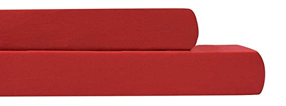 Amazon.com: AURAA Baby Fitted Crib Sheets Set, 2 Pack Crib Mattress Topper for Baby Boys Girls,Ultra Soft, Full Standard (Red): Home & Kitchen