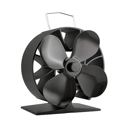 Alrededor de 4 aspas Ventilador de estufa alimentado por calor Ahorro de combustible Ventilador de estufa