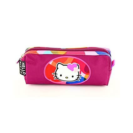 Hello Kitty Estuche escolar, color morado: Amazon.es ...