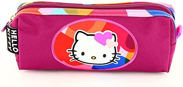 Hello Kitty Estuche escolar, color morado: Amazon.es: Oficina y papelería