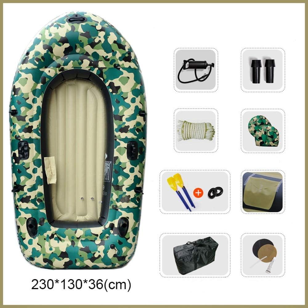 アウトドアスポーツ 肥厚耐摩耗漁船インフレータブルボートカヤックアサルトボートホバークラフト2/3/4人ゴムボート (Color : 3 person - 230*130*36 (cm)) 3 person - 230*130*36 (cm)