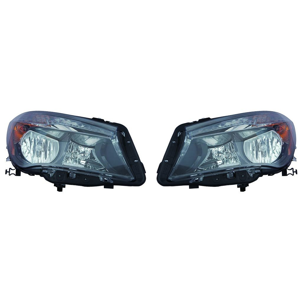 Mercedes Benz CLA 2014-2017 Headlight Assembly Halogen Driver and Passenger Side Pair (NSF Certified)