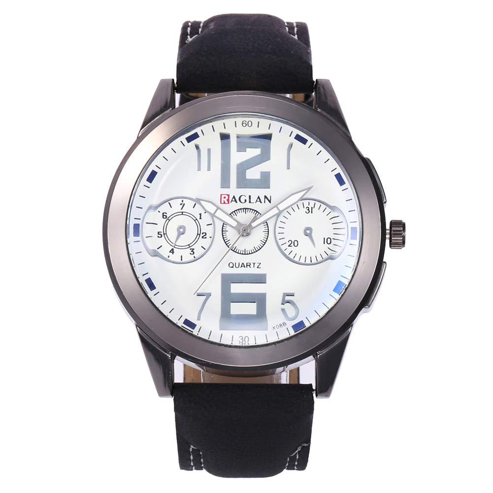 Mens Analog Watch Watches Sub-dials Arabic Numbers Men Analog Quartz Business Wrist Watch Gift