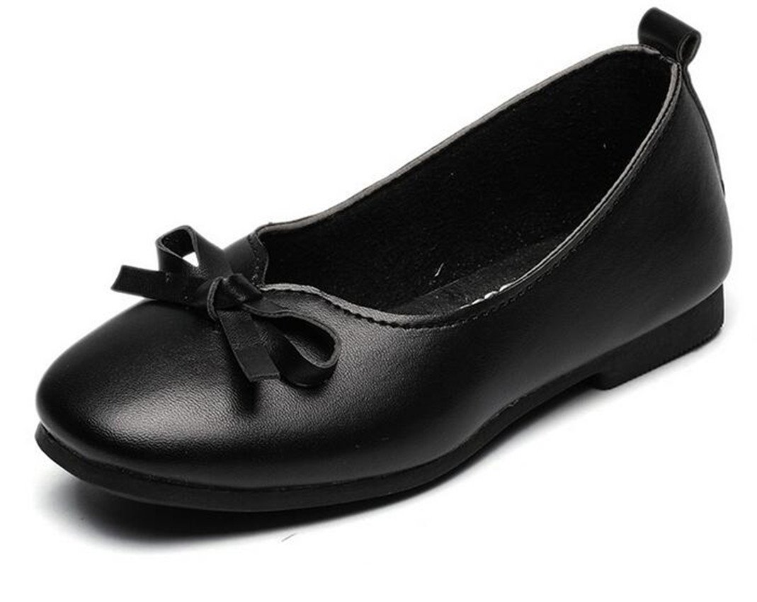 Bumud Girl's School Uniform Mary Jane Flat Dress Shoe (Toddler/Little Kid) (11 M US Little Kid, Black)