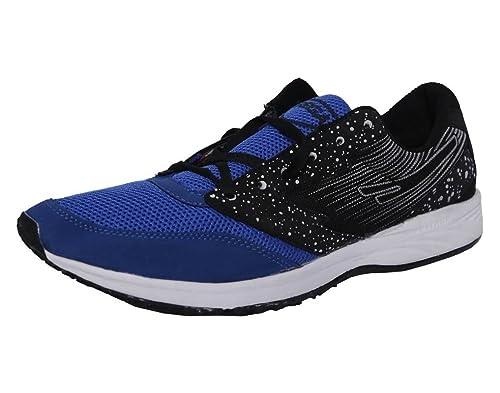 7a10f65a6b SEGA Men's Black Blue Synthetic Cotton Running Shoes (Marathon) - 6 ...