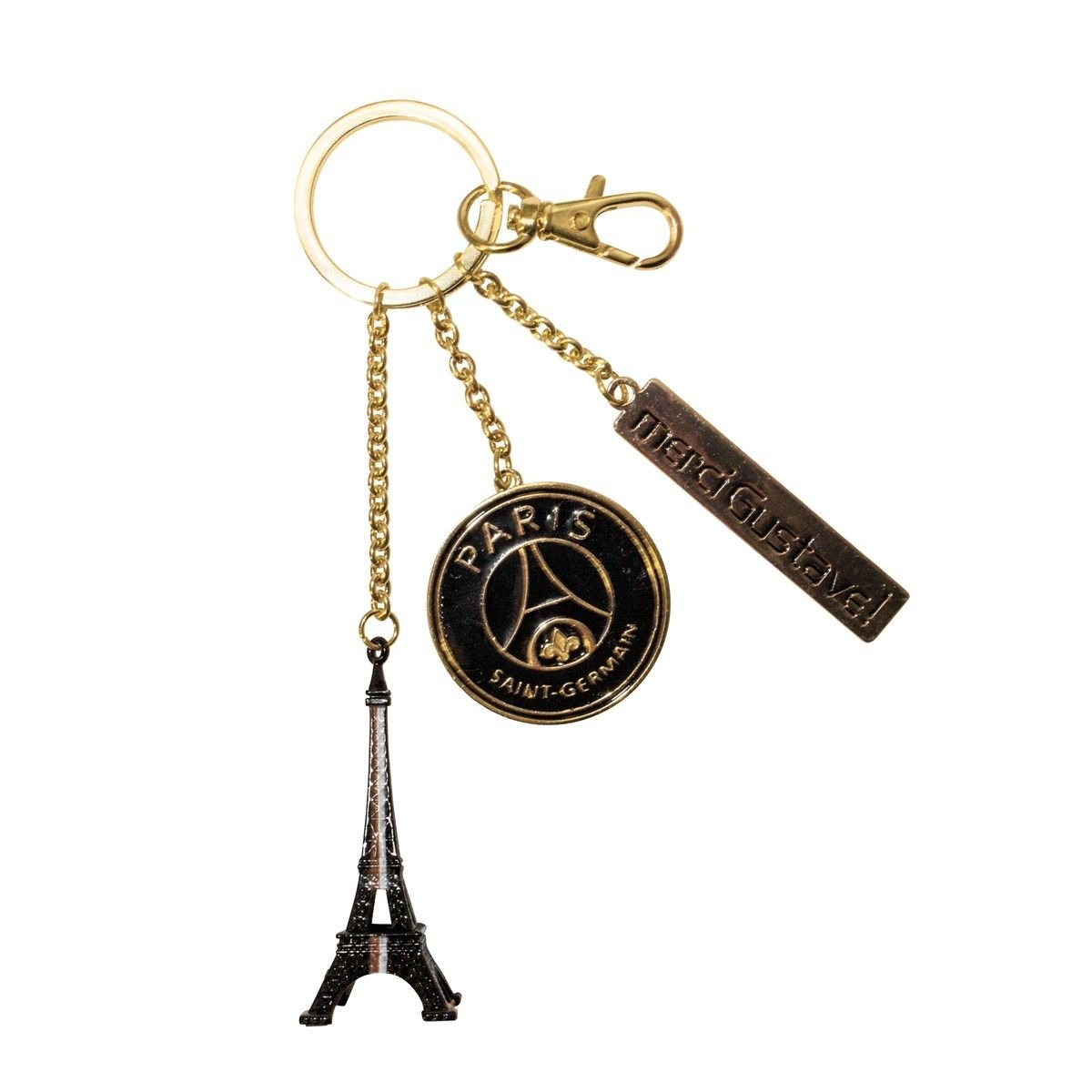 Merci Gustave pocl3101 キーリング ブラックメタル パリ セントジェルマン PSG ブラックライン 8 x 2 x 17.5 cm B01CGMD51K