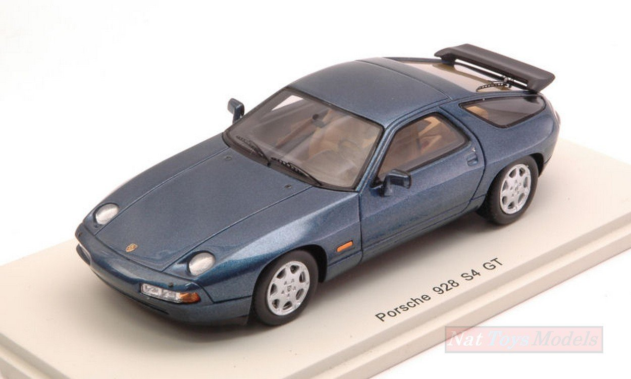 SPARK MODEL S4944 PORSCHE 928 S4 GT 1990METALLIC BLUE 1:43 MODELLINO DIE CAST