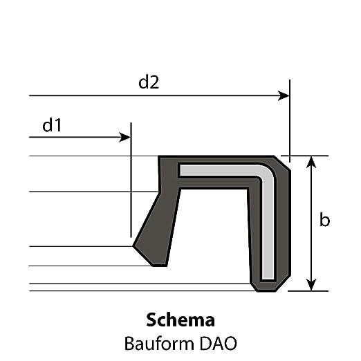 10 Radial-Wellendichtringe 20 x 26 x 4 mm DAO ohne Feder NBR 70