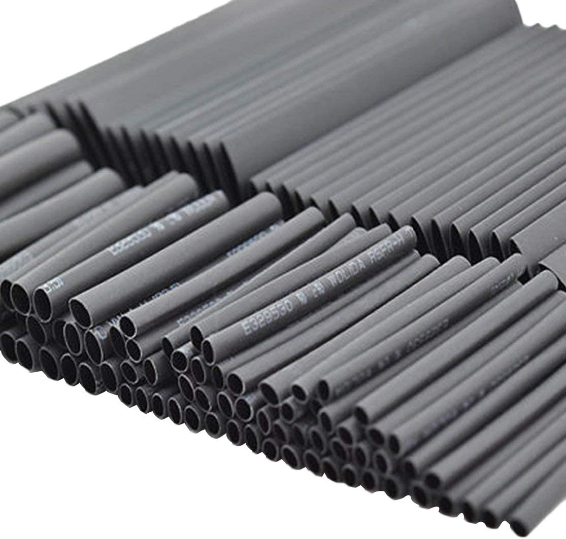 Farbe: schwarz Kaemma 127pcs Schrumpfschlauch Rohr Draht Isolierung Sleeving Kit Car Elektrische Shrinkable Kabel Wrap Set Verschiedene Polyolefin