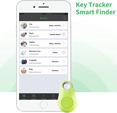 Smart Key Finder SwiftFinder Mini Wireless Locator Anti-Lost Bluetooth Tracker for Key//Phone//Wallets//Purse//Luggage and Bags with APP Control White