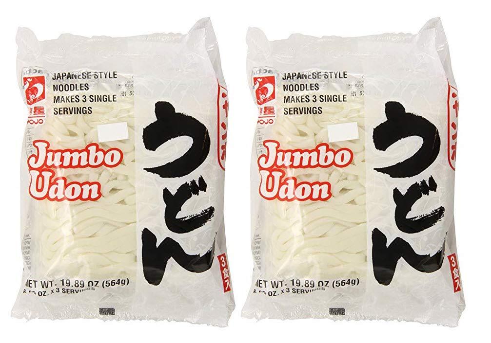 Myojo Jumbo Udon Noodles, No Soup, 19.89 Ounce (Pack of 2) by Myojo