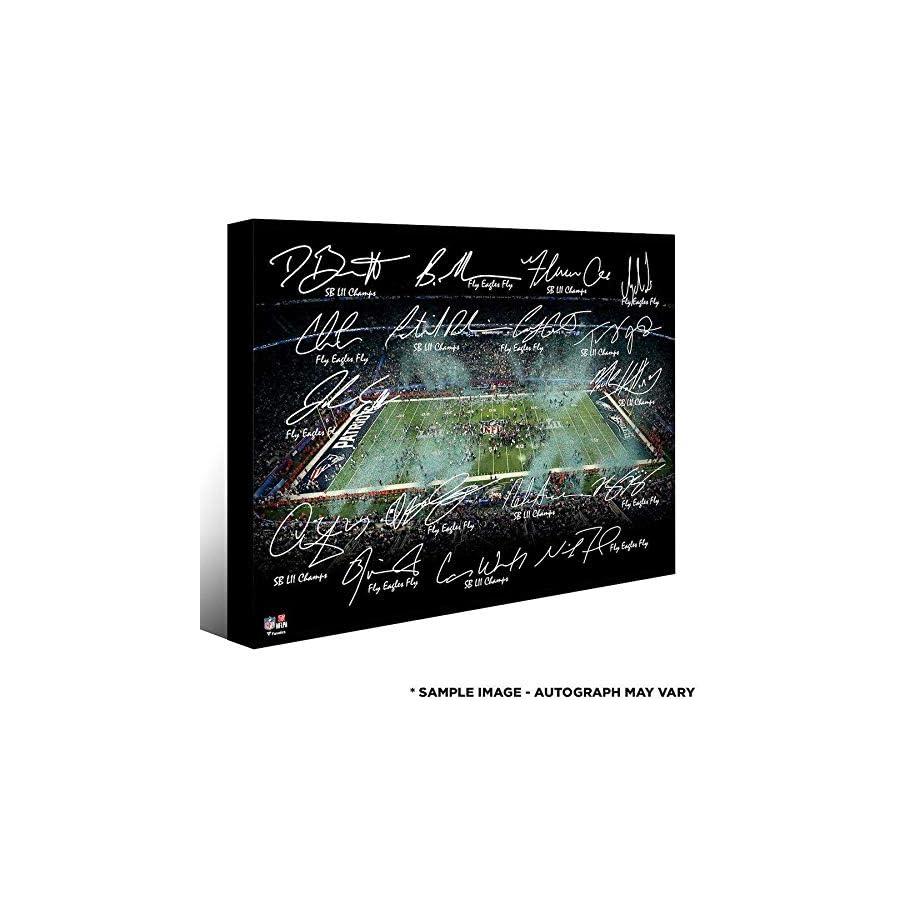 2017 Eagles 20x24 SB 52 LE 50 Canvas Team Signed by 20 Wentz Foles Fanatics Fanatics Authentic Certified