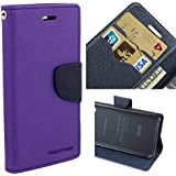 BRAND FUSON Mercury Goospery Fancy Diary Wallet Flip Cover for SAMSUNG GALAXY J2 PURPLE