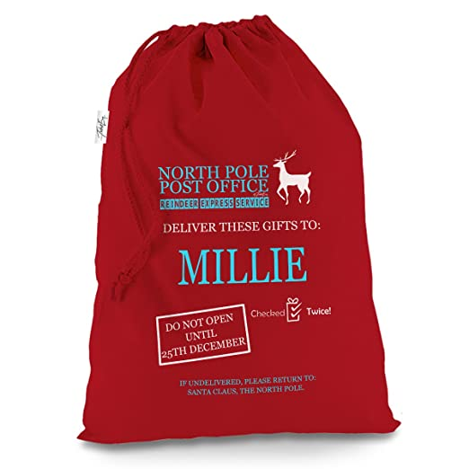 Personalizado Polo Norte oficina de correos XL rojo bolsa de Papá ...