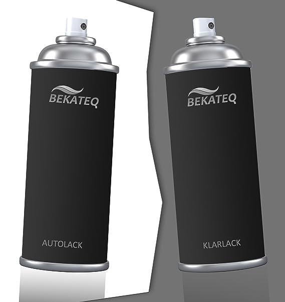 BEKATEQ Spraydosen Set für Nissan BJAB Cider M. Lackspray Autolack 2x400ml Klarlack Sprühlack Sprühfarbe Kratzer entfernen La