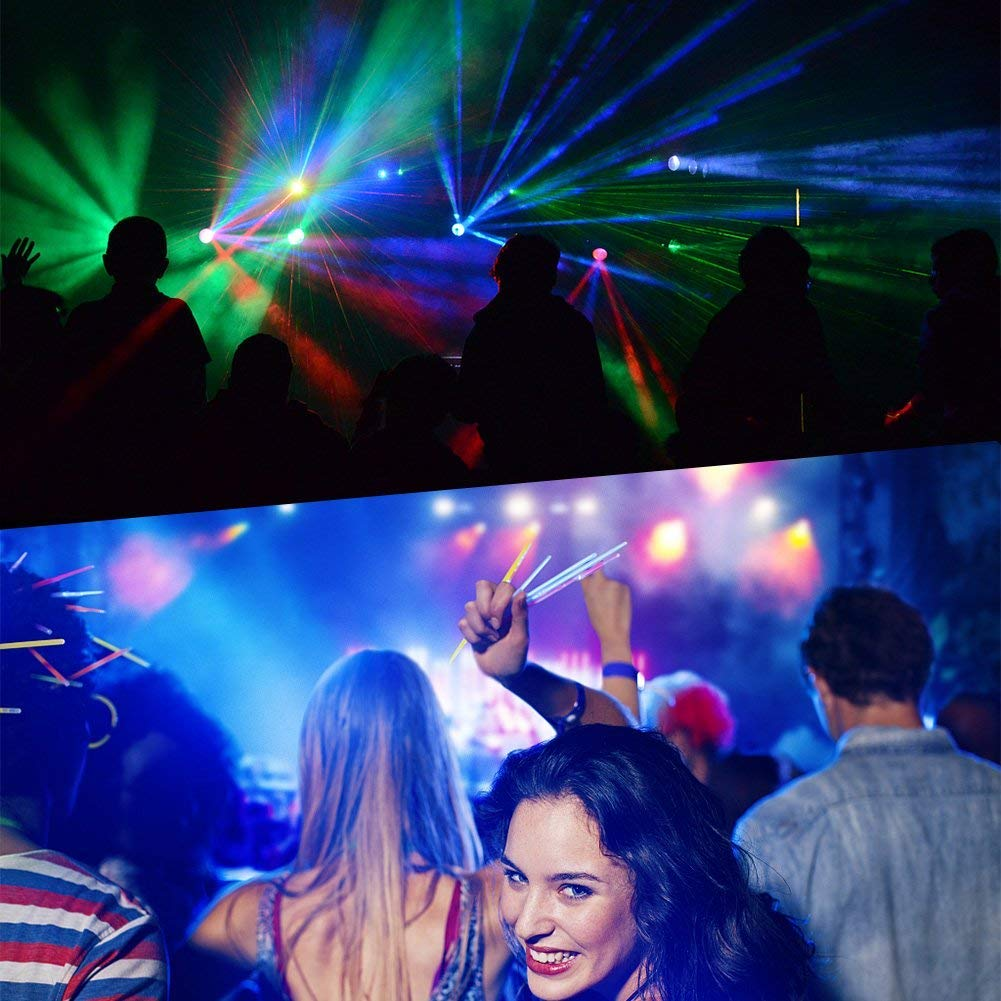 LUNSY DJ Par Lights, 36LEDs Stage Lighting Par Can Controlled by Remoter and DMX Control - 2 Pack by LUNSY (Image #6)