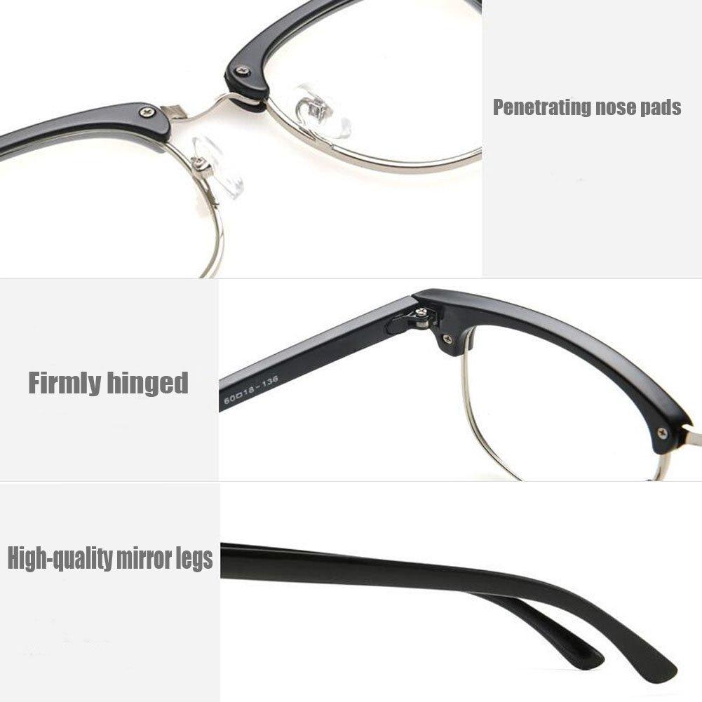 Hzjundasi Moda Gafas Retro/Vintage Semi-sin montura Marco Anti ...