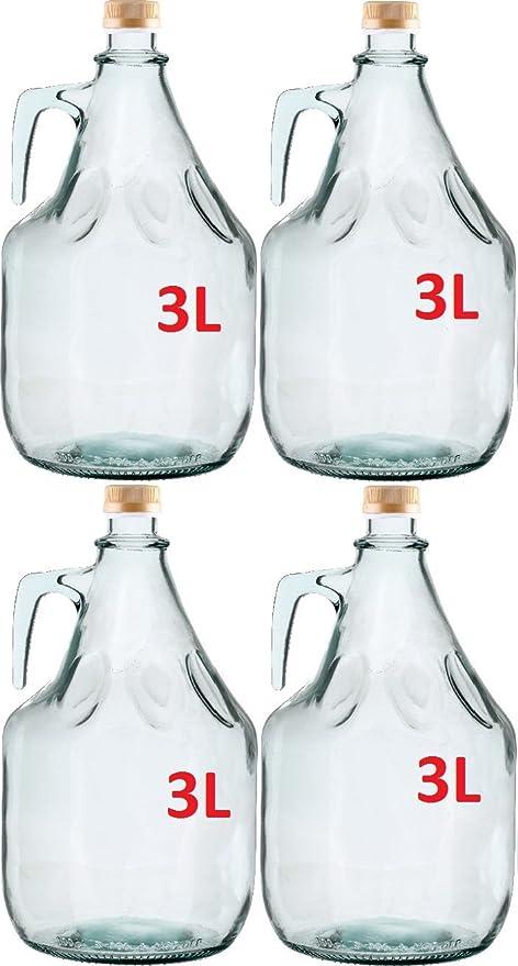 4 unidades, botella de vino, garrafa de vidrio 3L BDG3Z globo