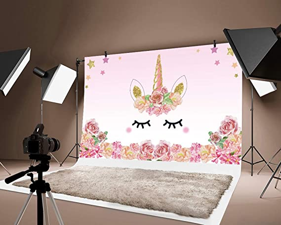 7X5FT, Color-10983 TJTJXRXR 7x5ft Photography Backdrop Birthday Party Photo Background Sweet Cartoon Backdrops Girls Photo Portrait Studio