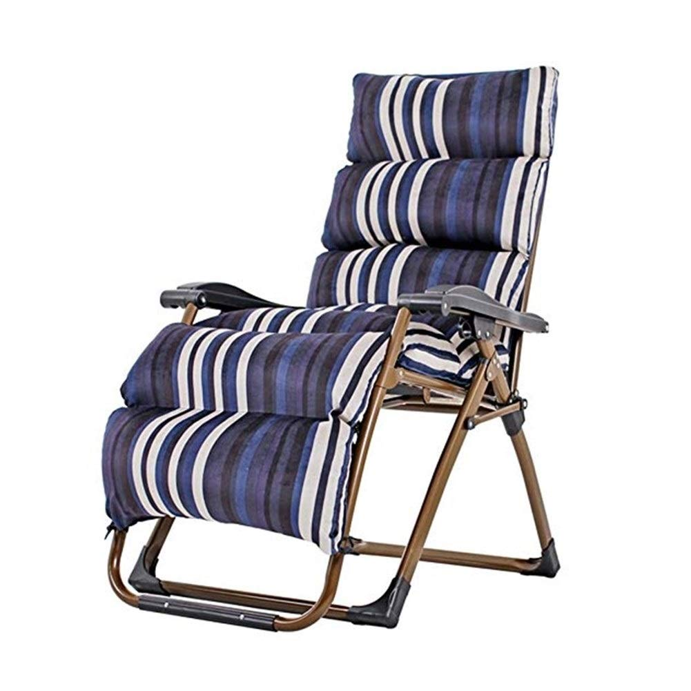 YYTLTY Folding Chair Multi-Level Reclining Chair, Folding Chair, Siesta Chair, Leisure Chair, Chair, Beach Chair, Outdoor Folding Chair154×80×65cm (Color : L) by YYTLTY