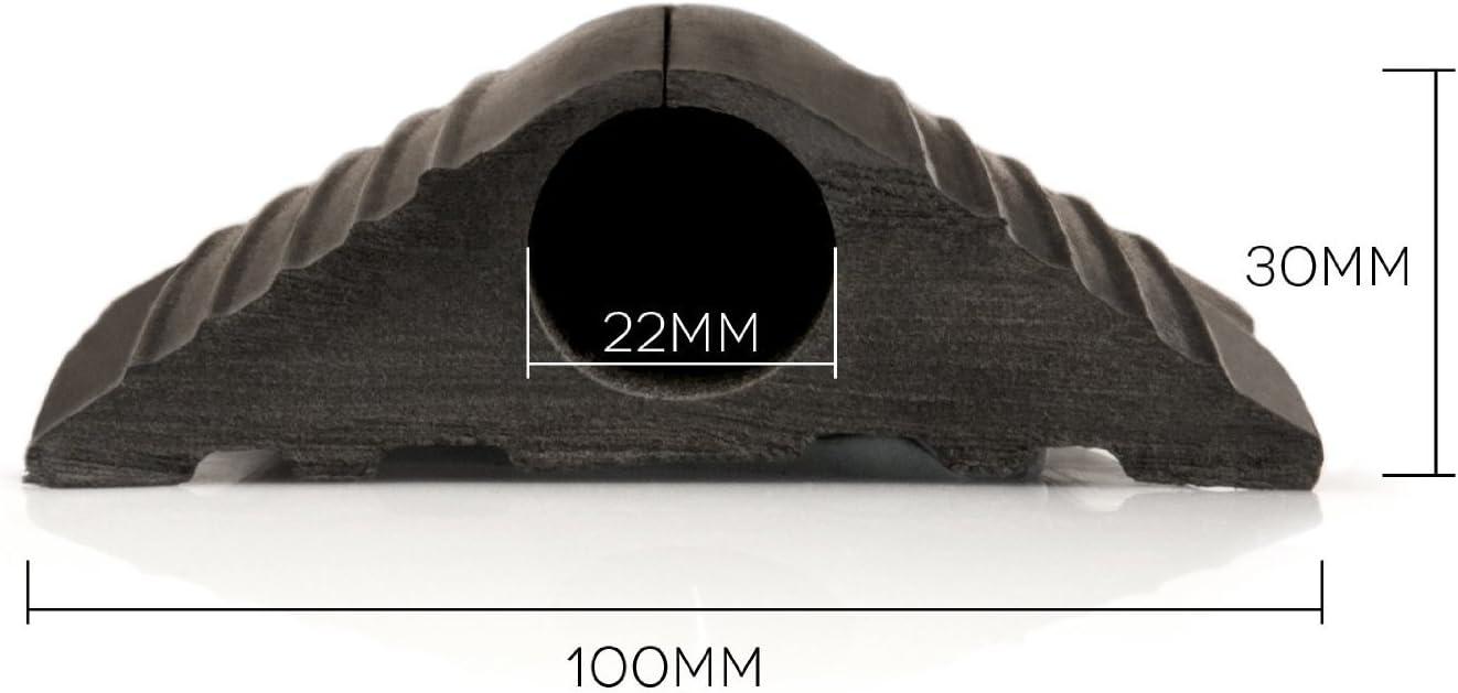 TR-Tools c/âble de protection de rev/Ítement de sol en caoutchouc 1m x 20mm Noir 4 metre