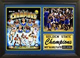 NBA Golden State Warriors 352-77 California 2015 Champions Triple Panel Celebration Plaque, Black