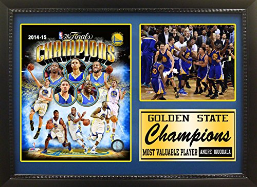 NBA Golden State Warriors 352-77 California 2015 Champions Triple Panel Celebration Plaque, Black by Encore