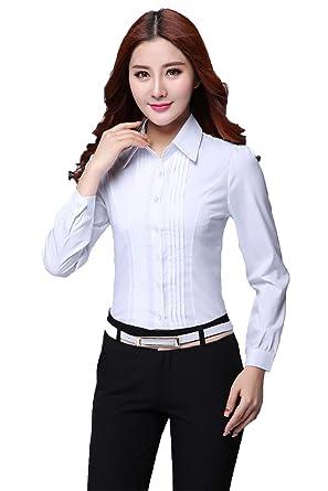 Amazoncom Comvison Long Sleeve T Shirt For Women White Formal