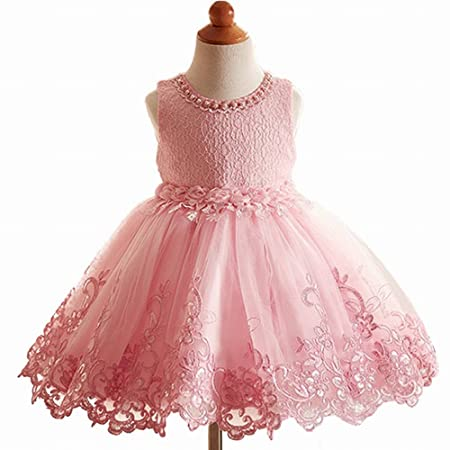 Girls Dresses Princess Lace Flower Wedding Pageant Birthday Party