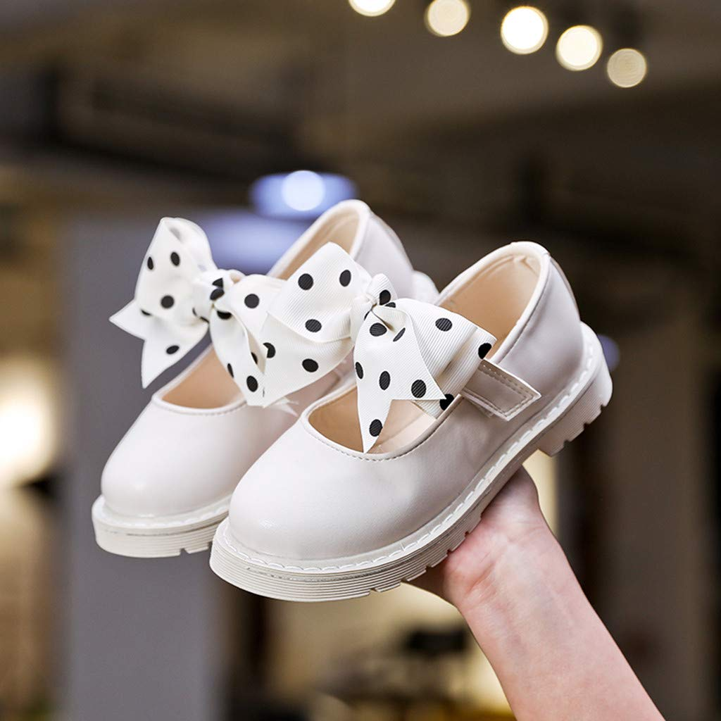 Shusuen Girls Shoes Ballerina Flat Shoes Mary Jane Dress Booties with Bowknot