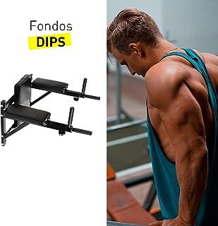 CloverFitness Fonds Bench Multifonction configurado pour Montage au Mur Rack-to-Run pour Pull UPS et dips, Adultes Unisexe, Noir, M-L Clover Fitness