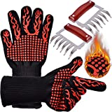 Meat Shredders & Grilling Oven Gloves - Metal Pulled Pork Meat Claws Heat Resistant Cooking Mitts Shredding Handling, Carving Food, Grilling, Smoking, Baking PROKITCHEN
