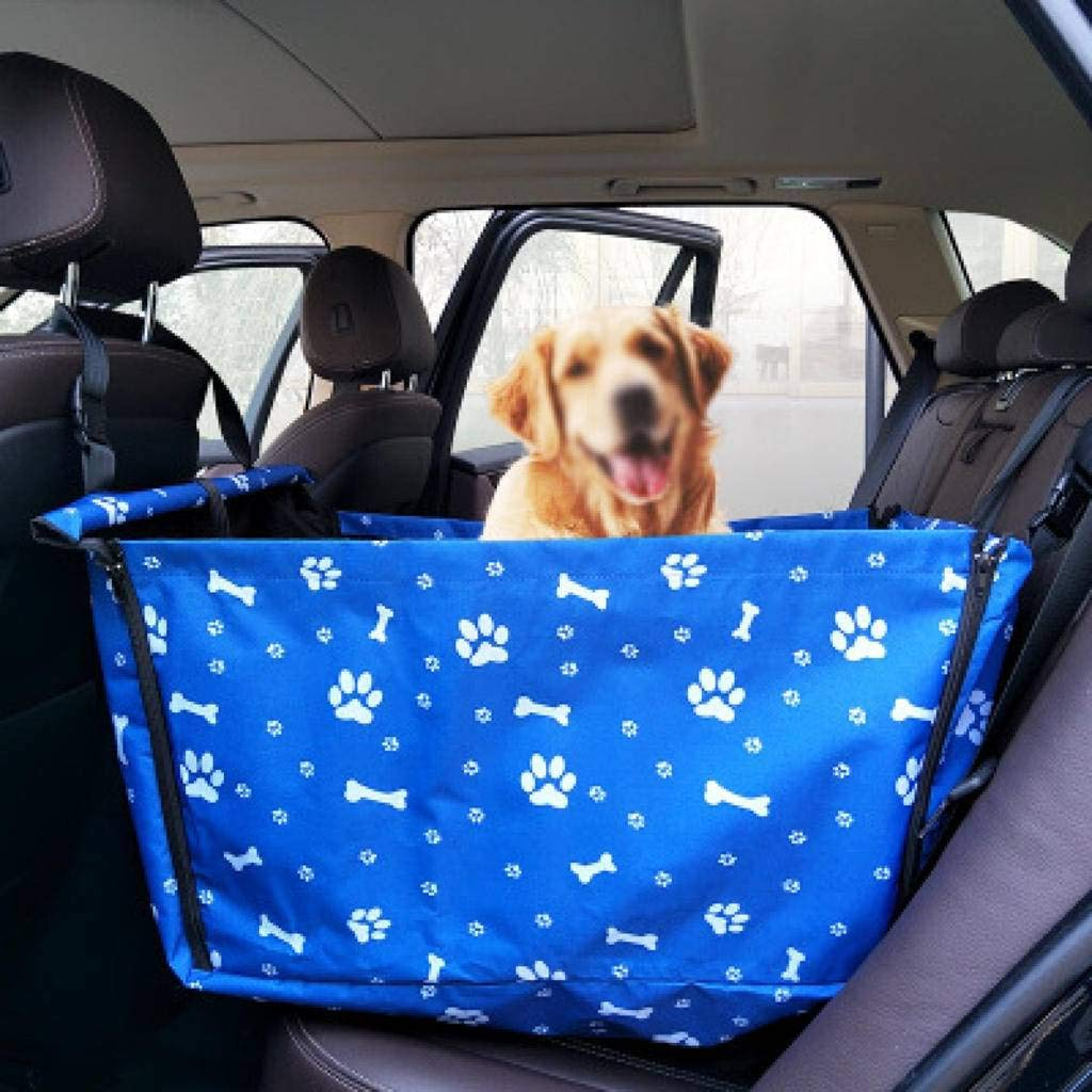 HAHY Dog Car Seat Single Seat for Back Seat Waterproof Pet Dog Car Supplies Pet Booster Seat with Safety Leash Rear Seat Predector Hammock Dog Car Carrier