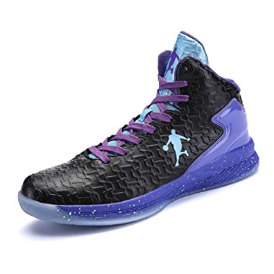 Sport & Unterhaltung Mann Basketball Schuhe Schwarz Weiß High Top Sneakers Für Männer Frühling Herbst Training Schuhe Männer Dämpfung Nicht Slip Basketball Stiefel