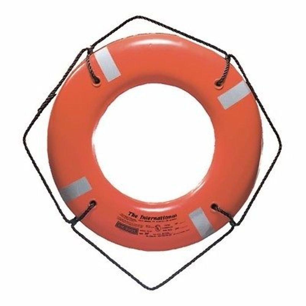 Jim-Buoy JBO-X-24 U.S.C.G. Approved Jbx-Series Life Ring (24'', Orange)