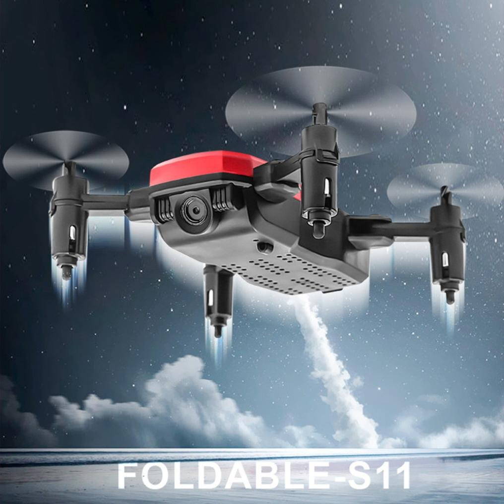 Gbell Mini Quadcopter Drone RC Plegable - D2WH- con WiFi FPV 0,3 ...