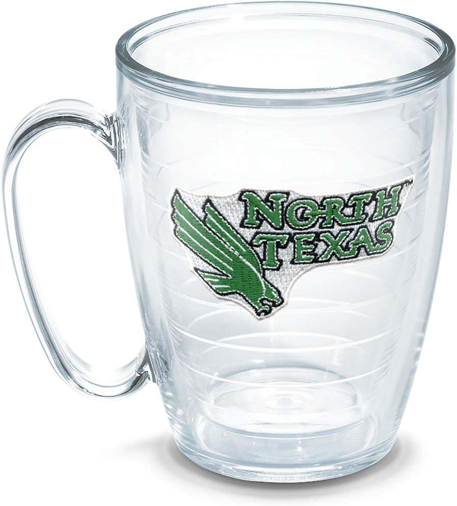 16 oz Clear 1050456 Tervis North Texas University Individually Boxed Emblem Mug