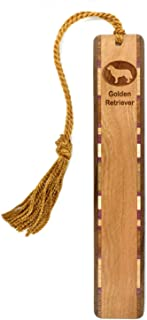 product image for Dog Bookmark - Golden Retriever Engraved Wooden Bookmark with Tassel