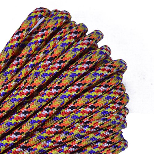 - Bored Paracord - 1', 10', 25', 50', 100' Hanks & 250', 1000' Spools of Parachute 550 Cord Type III 7 Strand Paracord Well Over 300 Colors - Overkill - 100 Feet