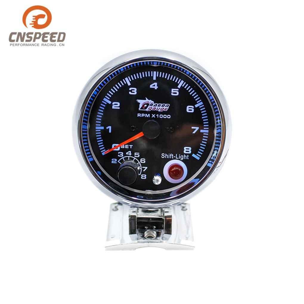 m-egal 80 mm 12 V 7 LED色調節可能な車タコメーターRacing速度計自動Tachoタコメーターゲージ車タコメーター B078NT9N64